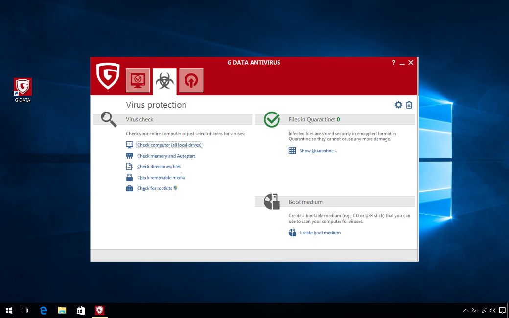 G DATA Antivirus, 10 PC, 3 Ani, Licenta Noua, C1001ESD36010
