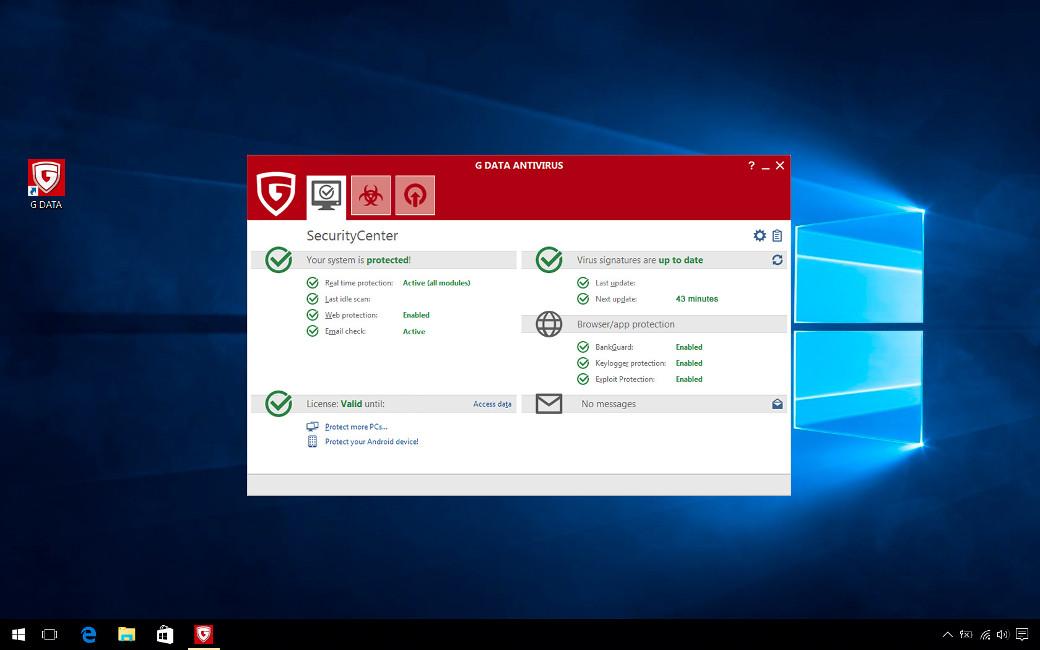 G DATA Antivirus, 6 PC, 2 Ani, Licenta Noua, C1001ESD24006
