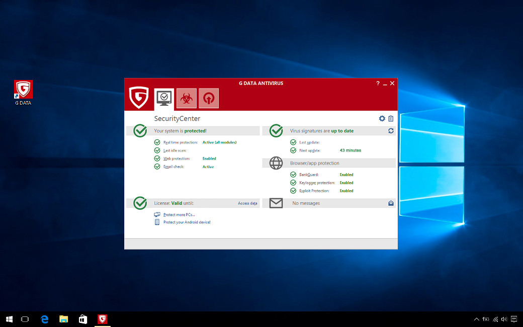 G DATA Antivirus, 8 PC, 1 An, Licenta Noua