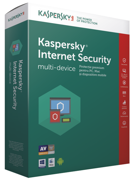Antivirus Kaspersky Internet Security European Edition, 1 licenta, 1 An, Noua, Electronica, KL1939XCAFS,  KL1939XCAFS
